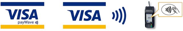 VISAタッチ決済の加盟店の印
